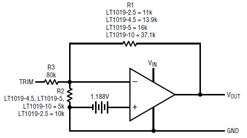 LT1019CN8-10, Прецизионные